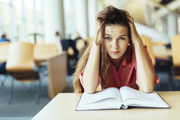 Blokkende student
